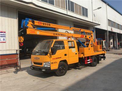 Telescopic work platform truck