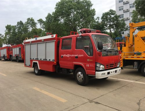 Max working height 60m ISUZU fire fighting truck